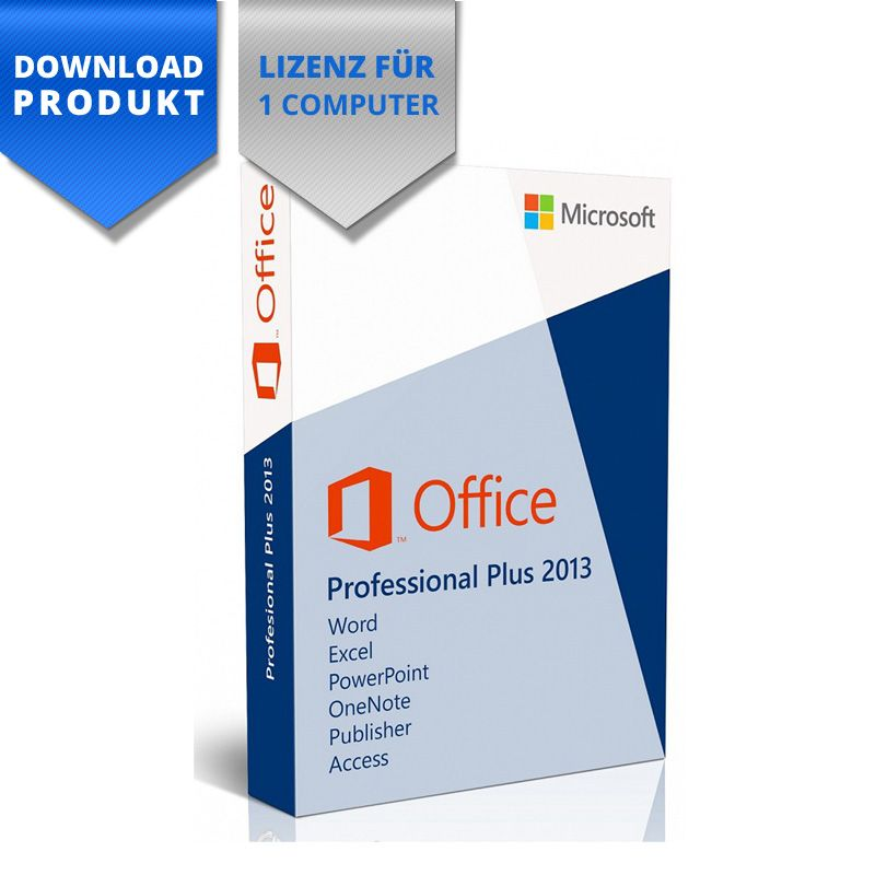Microsoft office 2013 professional plus 32 64 bit einzelplatzlizenz - Office professional plus 2013 telecharger ...