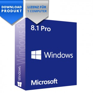 Windows 8.1 Professional - 32/64-Bit - Vollversion - für einen Computer