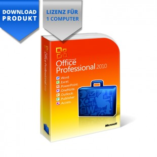 Office 2010 Professional - 32/64-Bit - für 1 Computer