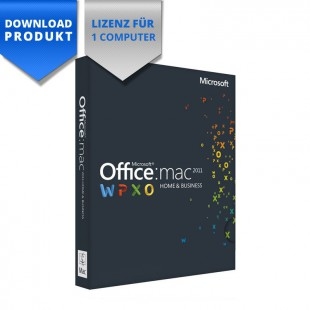 Mac OS X Office 2011 Home & Business für Mac für 1 Computer